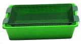 Caster Wanne grün 50x35cm