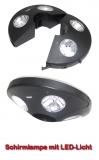 Schirmlampe für Zelte mit LED-Licht
