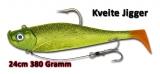 Quantum 380g Kveite Jigger, 24cm, papagallo
